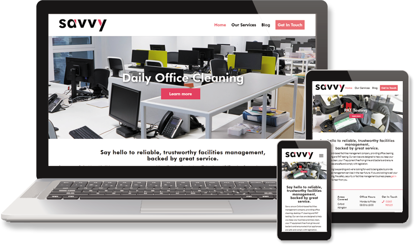 Facilities Management website from The Web Builder
