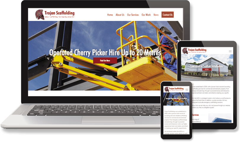 Scaffolding website from The Web Builder
